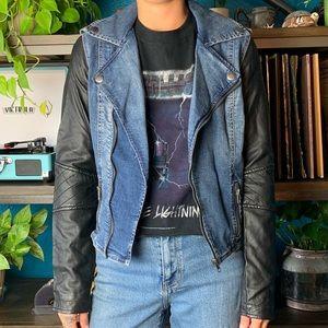 Kendall & Kylie moto jacket vegan leather sleeves